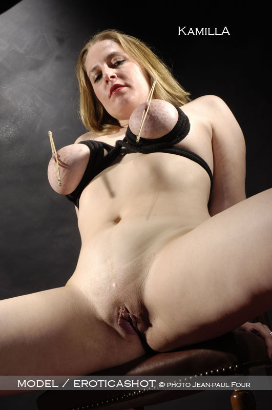 Kamilla - models of eroticashot, blonde, breast bondage ...